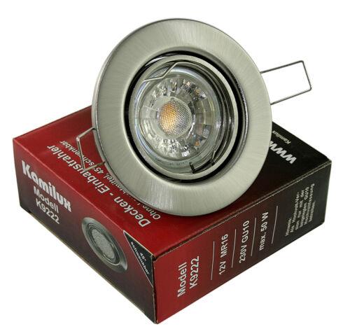 Dimmbar LED 5W Einbauleuchte Tom Einbau Strahler Set Decken Leuchte u.a Warmweiß