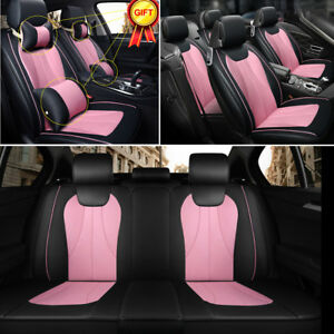 Universal Car Suv Seat Cover 3d Pu Leather 5 Seats Frontrear Black