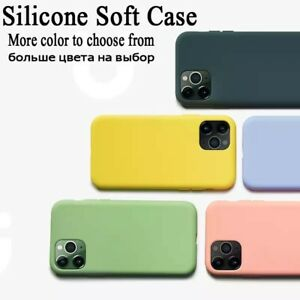 For iPhone 12 Pro MAX 11 X Cases, Silicone Ultra Slim Shockproof Phone Case Hot