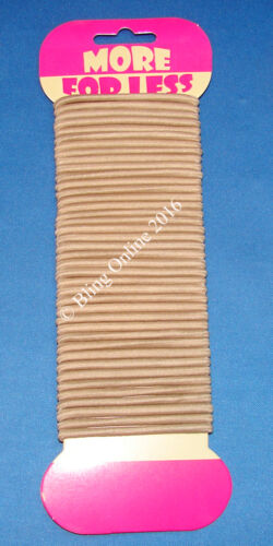40pc STANDARD HAIR BANDS ELASTICS BLACK BROWN BLONDE MIXED BOBBLE PONY TAIL 4cm