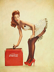 coca cola pin up girl coke vintage ccc02 giant large wall poster a0