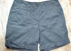 9be0a220576852 C&A Damen Shorts Kurz Hose Bermuda Baumwolle schwarz 40   eBay