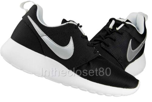Black Boys One Roshe Trainers Run Girls Gs Junior White Silver Nike Womens YHzwYx