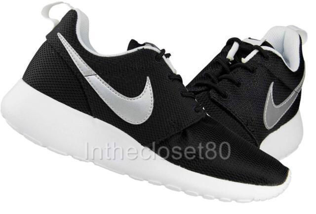 Nike Roshe One Gs Roshe Run Womens Girls Boys Junior Trainers Black White Silver