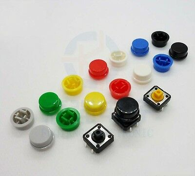 12*12*7.3MM square head 4 feet vertical touch switch button switch with Key cap