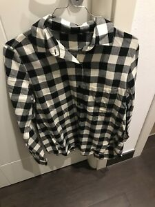 newest e396a b158a Dettagli su Camicia Donna ZARA Tg M A Quadri Bianco E Nero