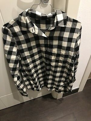 Camicia Donna ZARA Tg M A Quadri Bianco E Nero | eBay