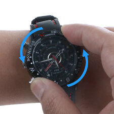 8GB HD BLACK  Waterproof Hidden Spy Wrist Watch Cam Mini DVR Video SPY Camera