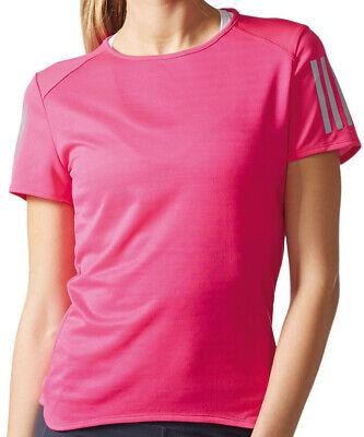 Nett Adidas Response Short Sleeve Womens Running Top - Pink
