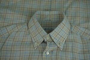 Loro-Piana-Pastel-Pink-Blue-100-Linen-Button-Collar-Dress-Shirt-Sz-15-5