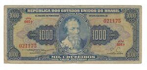 1000-Cruzeiro-Bresil-1955-c050-p-156b-Brazil-billet