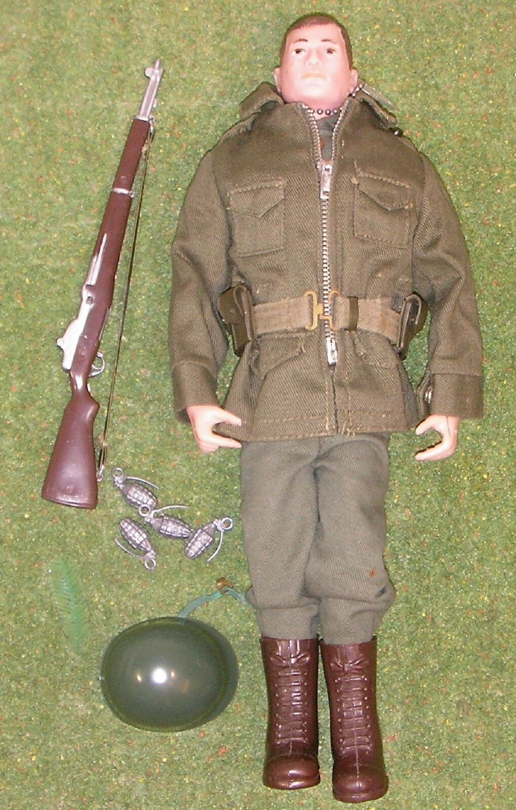 ORIGINAL VINTAGE ACTION MAN LOOSE COMBAT FIELD JACKET PAINTED HEAD 129
