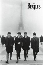 THE BEATLES - EIFFEL TOWER POSTER - 22x34 PARIS FRANCE MUSIC BAND 13001