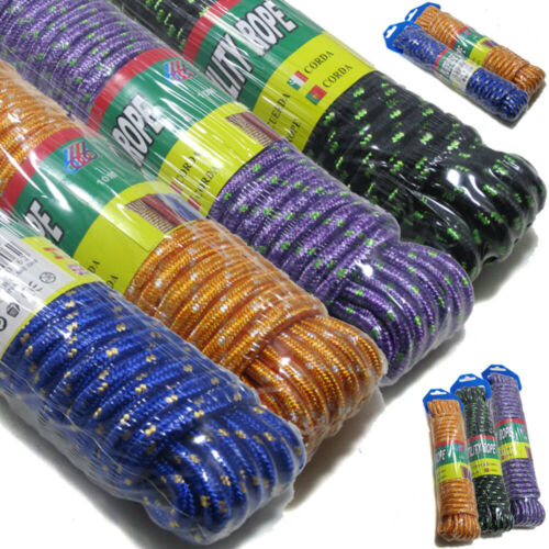 5X assortiment couleur heavy duty multi usage corde en nylon bâche jardin garage ou