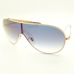 e600da503e Ray Ban 3597 001 X0 Gold Blue Fade Red Mirror Wings Shield ...