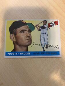 1955-Topps-Dusty-Rhodes-1-NY-Giants-Baseball-Card-Near-Mint-See-Pics
