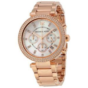 NEW-GENUINE-MICHAEL-KORS-MK5491-ROSE-GOLD-PARKER-CRYSTAL-WOMEN-039-S-WATCH-UK