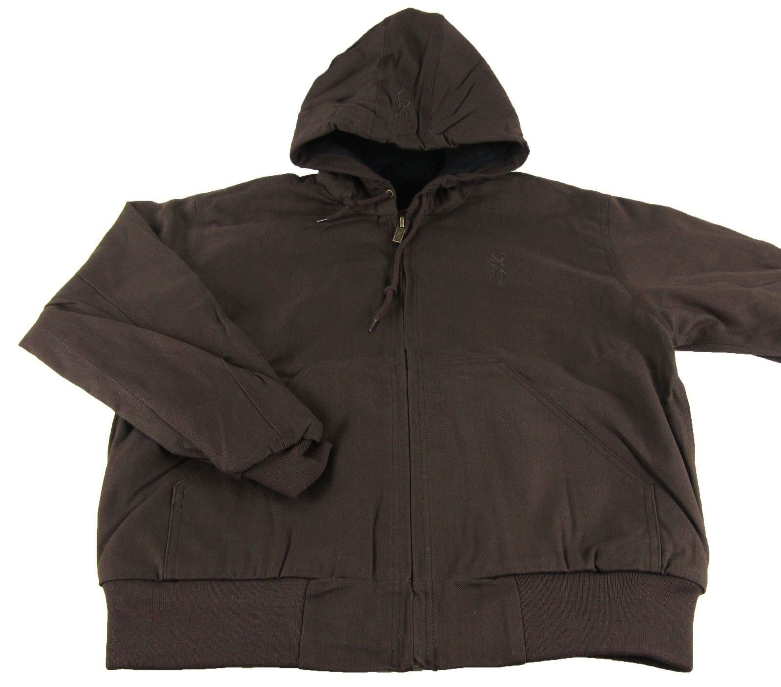 Mens NWT brauning Buckmark Hooded Cotton Canvas braun Jacket Größe M XL 2XL