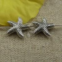 Free Ship 264 pcs tibetan silver starfish spacer 14x3.5mm #4484