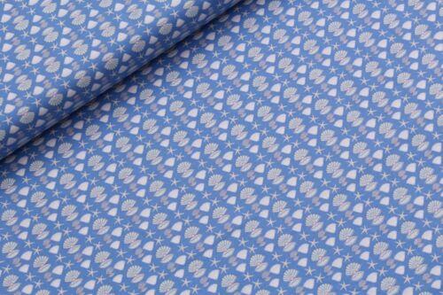 """100/% Premium Quilting Cotton Mermaid Seahorse Ocean Pearl Stars Blue Purple 44/"""""""