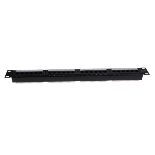 "24 Port CAT5ECAT5 Patch Panel 1U 19""Rack Mount RJ45 Ethernet Network T568B"