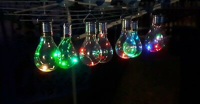 New Solar Garden LED 3 x Wilson /& Gregory Colour Changing Solar LED Light Bulbs