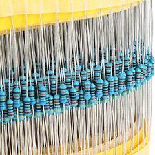 600PCS 30 Value 1/4W 10 - 1MΩ Metal Film Resistors Resistance Assortment Kit