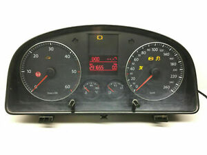 VW-Boite-1-9-Tdi-Km-H-Compteur-de-Vitesse-Instrument-Cluster-Speedo-1T0920852E