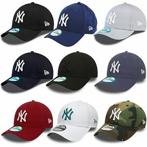 New-Era-9FORTY-New-York-Yankees-Adjustable-Baseball-Cap-Black-Blue-Grey-Red