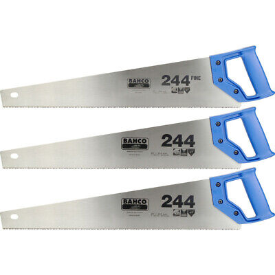"New Bahco 244 Saw Triple Pack 550mm Freepost Uk Seller 22"""