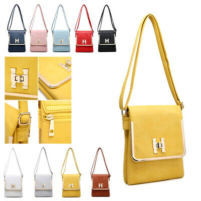Ladies Multi Pocket Travel Shoulder Bag Utility Messenger Bag Handbag M17661-1