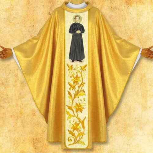 Casula con immagine ricamata /'San Giovanni Bosco/'