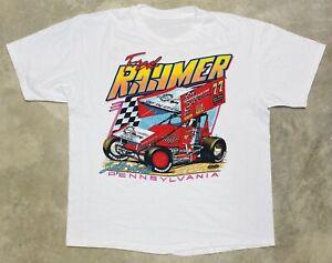 "Vintage 1996 ""Fast Freddie"" Rahmer Sprint Car Tee - XL"