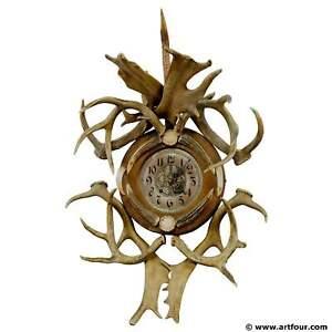 antique-cabin-decor-antler-wall-clock-1900