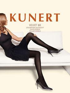 Rest-Kunert-034-Velvet-80-034-Strumpfhose-blickdicht-div-Farben-Gr-38-40-bis-44-46