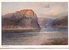 The Loreley Rock on the Rhine Unknown Postcard Unused VGC
