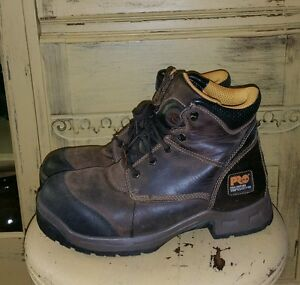 b45a95f5850 TIMBERLAND PRO SERIES TITAN XL SAFETY TOE LEATHER WORK BOOTS MENS 9 ...