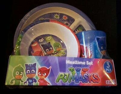 The Wiggles Children Mealtime Dinner Set 3pcs Plate Bowl /& Cup BPA Free