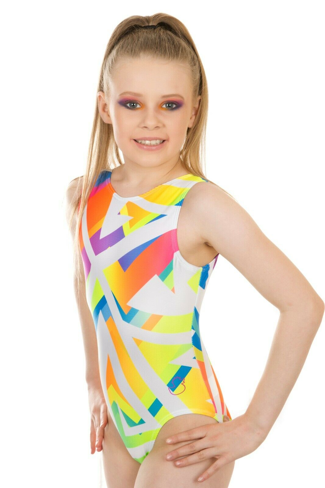 Jazzy Rainbow Girls Gymnastics Leotard Lycra Ballet Costume Dance Outfit 3-16Y