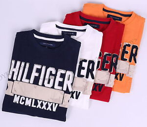 NWT-TOMMY-HILFIGER-MEN-CLASSIC-LOGO-CREW-NECK-TEE-T-SHIRT-SHORT-SLEEVE-FREE-SHIP