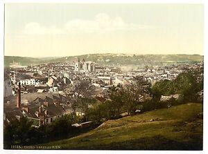 A3 Taille Victorien Vue De City Of Truro Cornwall Ancienne Photo Image Affiche