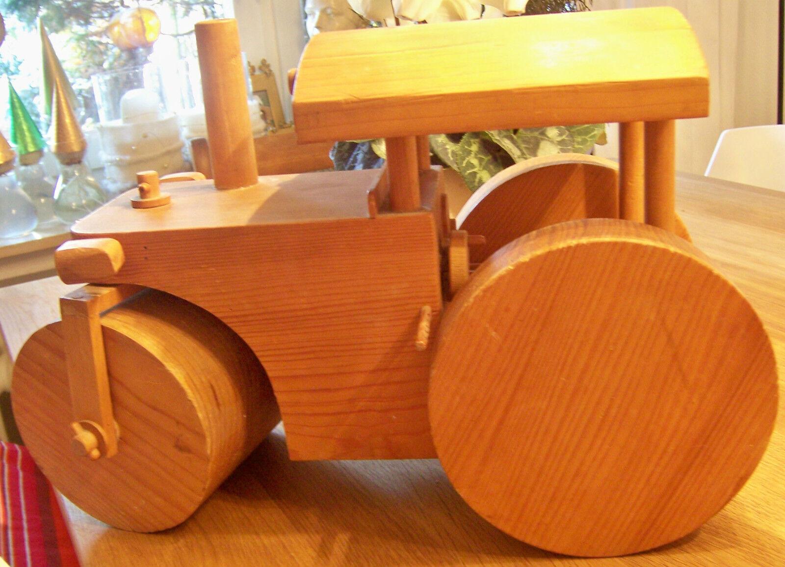 Dampfwalze aus Holz,Holzspielzeug, Handarbeit, massiv,Deko Objekt Geschenk