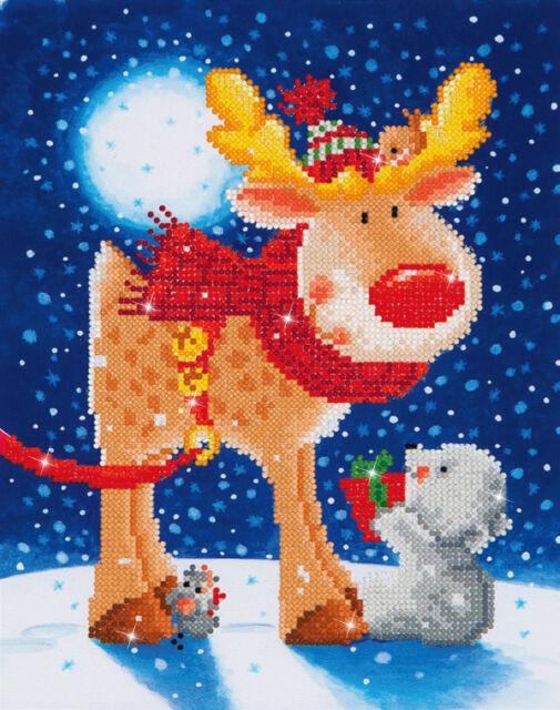 Diamond Dotz® Weihnachts Rentier 27x35cm DD05-012 Diamond Painting NEU