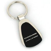 Dodge Challenger Black Tear Drop Metal Key Ring
