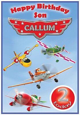 Personalised Boys Birthday Party Invitations Disney planes,plains,disney painx 8