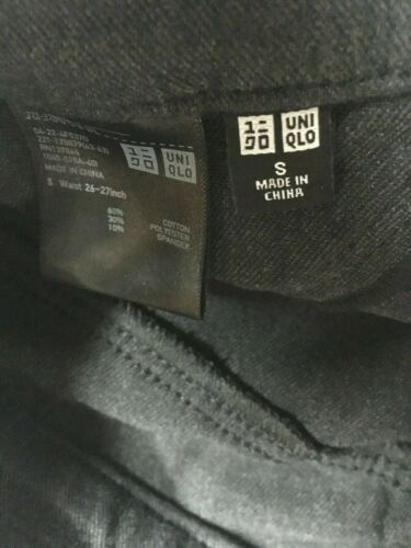 Women/'s Uniqlo Slacks Casual Dress Pants Trousers Heather Dark Grey Size S 26 27