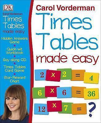 Carol Vorderman's Times Tables Made Easy by Carol Vorderman (Mixed media...