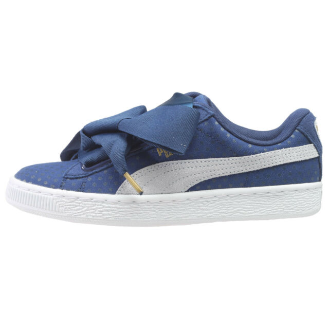 Puma Basket Heart Denim Womens 363371-01 Twilight Halogen Blue Shoes Size  6.5 bb4045e77