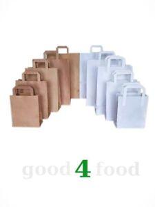 Papiertüten Flachhenkel Papiertragetaschen Papiertaschen in verschiedenen Größen