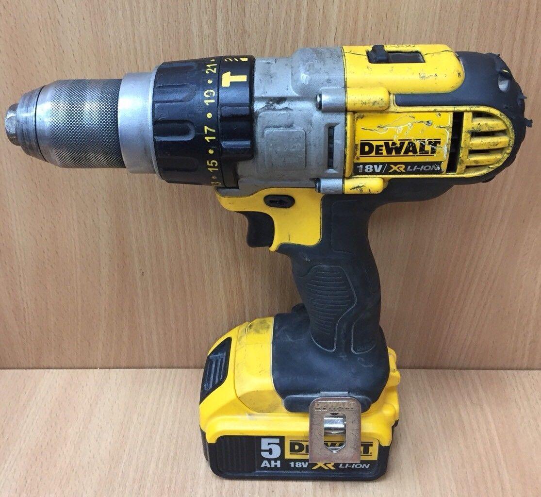 Dewalt Combi Hammer Drill DCD985N 18v XR Lithium Ion 3 Speed 1x5.0 Battery,chagr
